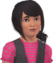 Sims 3 — LuLu Merasake by alicia7tommy — LuLu Merasake is the youngest daughter of Kagome, sister to Amy and Connie. LuLu