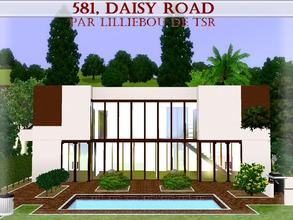Sims 3 — 581, Daisy Road by lilliebou — Hi :) This is a modern brown and white house (what a strange color choice!) and