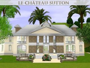 Sims 3 — Le Chateau Sutton by lilliebou — Hi! =) This is a modern house/castle. Here are some details about it: Half