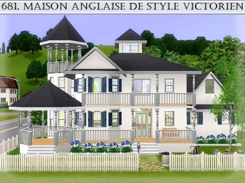 Lilliebou 39 s 681 maison anglaise de style victorien for Maison de style anglais