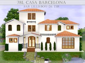 Sims 3 — 781, Casa Barcelona by lilliebou — Hi :) Here are some details about this house: First floor: -Kitchen -Dining
