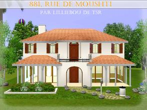 Sims 3 — 881, rue de Moushti by lilliebou — Hi ! :) Here are some details about this spanish house: First floor: -Living
