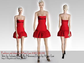 Sims 3 — FASHION RED DRESS BY MARS LEE by kerm_2046 — FASHION RED DRESS BY MARS LEE