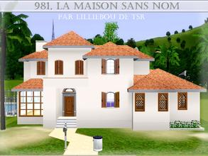 Sims 3 — 981, la Maison Sans Nom by lilliebou — Hi! :) Here are some details about this spanish house: First floor: