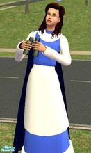 "Sims 2 — Belles everday dress by melaniecox — This dress was made for my Sim ""Belle\"" from disney\'s beauty"