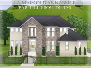 Sims 3 — La Maison d'Annabelle by lilliebou — Hi! :) Here are some details about this house: Outdoor: -Pool First floor: