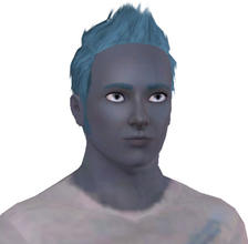 Sims 3 — Hendrik Zaylee- Blue Guy! by alicia7tommy — Hendrik Zaylee is a blue guy who is Brave and Athletic, he wants to