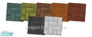 Sims 2 — Set Floors 08 by Imugust — This set including 7 floors.