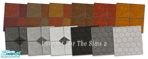 Sims 2 — Set Floors 09 by Imugust — this set including 12 floors.
