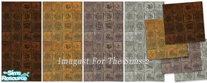 Sims 2 — Set Walls&Floors 19 by Imugust — This set including 4 walls and 4 floors.