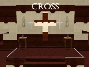 Sims 3 — Cross Mirror by lilliebou — Hi :) This is a simple cross mirror for your churches and prayers.