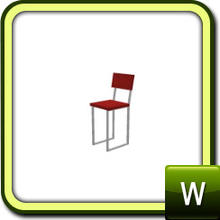 Sims 3 —  by lilliebou — Bar Chair; two recolorable parts; comes with two variations