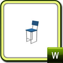 Sims 3 —  by lilliebou — Bar Chair. Two recolorable parts; comes with two variations.