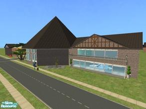 Sims 2 — Beacon Falls Add On: Fitness Center by lechapeau — Includes shaped pool with slide and diving boards, raised spa