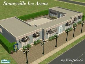 Sims 2 — Stoneyville Ice Arena by Wolfsim68 — Put on your outerwear, slip on your skates & take a glide across the