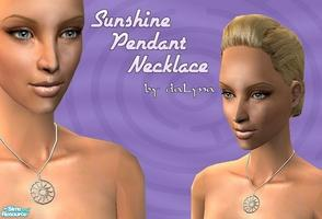 Sims 2 — Sunshine Pendant Necklace by daLyna — Sunshine Silver Pendant Necklace ..:: Enjoy! ::..