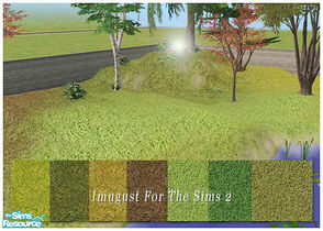Sims 2 — Set Grounds 01 by Imugust — This set including 7 grounds.