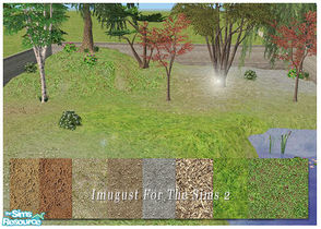 Sims 2 — Set Grounds 02 by Imugust — This set including 8 grounds.