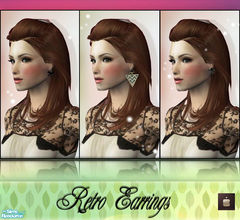Sims 2 — Retro Earrings by haiduong — Enjoy.