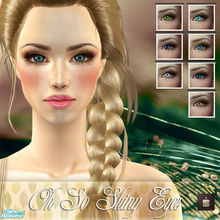 Sims 2 — Oh So Shiny Eyes  by haiduong — Set of 7 eyes in different tones: blue, deep blue, miel, claire de lune, aqua,