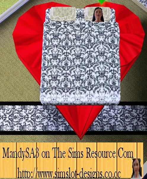 Sims 3 Heart Shaped Bed For Lovers By Mandysa3