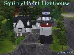 Sims 3 — Squirrel Point Lighthouse by samusa06 — 2 bedroom, 2 bath, lighthouse with cottage. Loft/Study, laundry, and 2