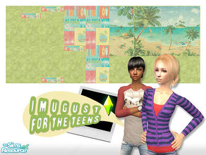 Sims 2 — Set Walls 14 by Imugust — This set including 8 walls.