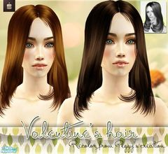 Sims 2 — Valentine\'s Hair - Recolor From Peggyzone  by haiduong — This is a set of 6 hair colors. I edited the alpha