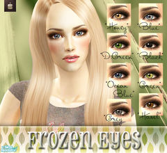 Sims 2 — Frozen Eyes by haiduong — A set of 8 realistic eye colors. Enjoy.
