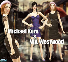 Sims 2 — Michael Kors & Vivienne Westwood Dresses by haiduong — Enjoy. And sorry but I couldn\'t put the linkpage to