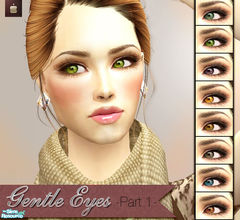 Sims 2 — Gentle Eyes Collection - Part 1 by haiduong — This is a set of 8 eye colors and you can see that the eyes look