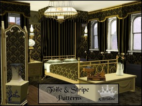 Sims 3 — Toiles & Stripes Patterns by cm_11778 — New toile and Stripe Set for your Sim homes, as always, I hope you