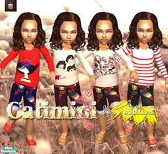 Sims 2 — CATIMINI Clothing for toddlers (girls) by haiduong — A set of 4 outfits for your cute little toddlers. Enjoy.