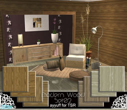 Sims 2 — Modern Wood Set02 by ayyuff — 8 floors,4 walls.