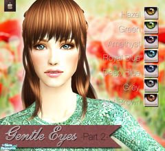 Sims 2 — Gentle Eyes - Part 2 by haiduong — A very nice and realistic set of 7 eye colors. Enjoy.
