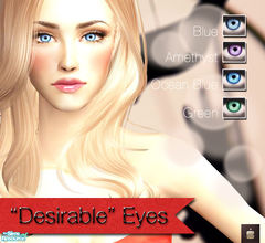 "Sims 2 — ""Desirable\"" Eyes by haiduong — Set of 4 light and vibrant eye colors for your sims. Enjoy."