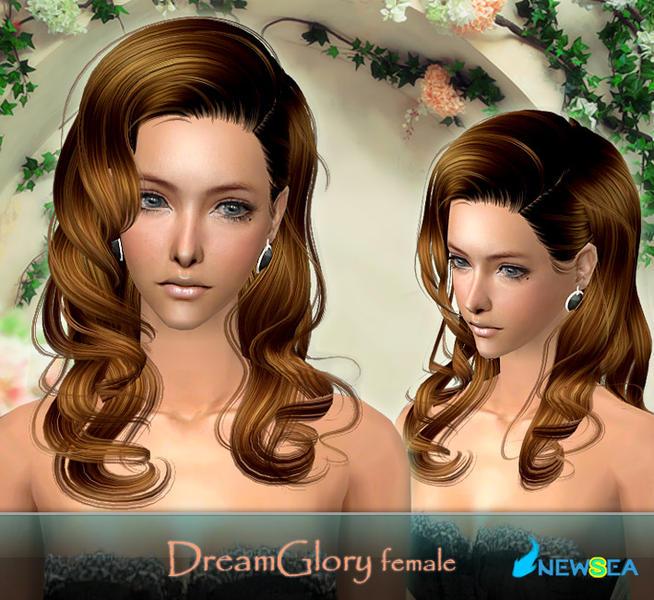 Download Hair: NewSea SIMS2 Hair J032f DreamGlory