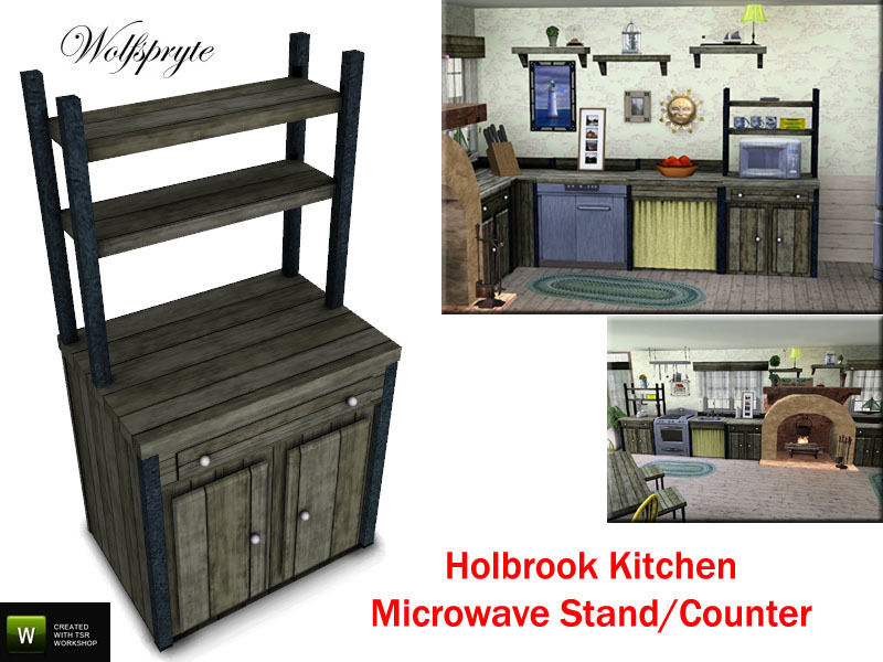Holbrook Kitchen Microwave Stand ...
