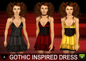 Sims 3 — Gothic inspired dress  by agapi_r — Gothic inspired dress