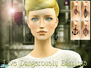 Sims 2 — Live Dangerously Earrings set by haiduong — Ok, I uploaded my old earrings that I made 2 weeks ago but I was too