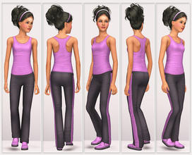 Sims 3 Female Clothing - 'yoga'