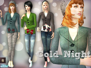 Sims 2 — Cold Night set - Female Adult by haiduong — A set of 3 casual outfits :coat+jeans or grey pants and pairs of