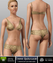 Sims 3 — Emma Underwear - Lace Panties by b-bettina — Encased in delicate lace, the Emma Lingerie set is a luxurious