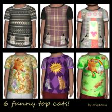 Sims 3 — Top todler unisex by orig1amy — Top todler for girls and boys. With funny cats.