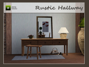 Sims 3 — Rustic Hallway by Angela — Rustic Hallway a small set to put in you hall or entry. Set contains: Sidetable,