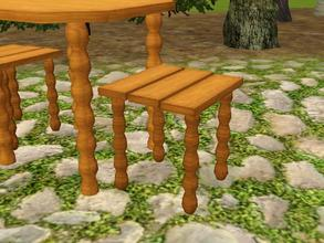 Sims 3 —  by lilliebou — Hi! This chair can be used as a dining chair, or as an outdoor chair. It costs 120 Simoleons and