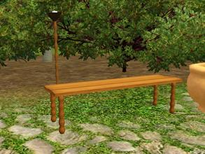 Sims 3 — Banc De Jardin by lilliebou — Hi! This bench can be found under Misc. Comfort for 125 Simoleons. One part