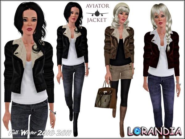 Lorandiasims3 S Leather Aviator Jacket
