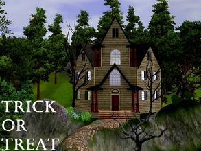 Sims 3 — Trick or Treat by lilliebou — Hi! Here are some details about this Halloween house: First floor: -Living room