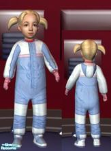 Sims 2 — Blue & White Suit - Girls by lechapeau — Categorized as outerwear only. To keep your toddler warm in the